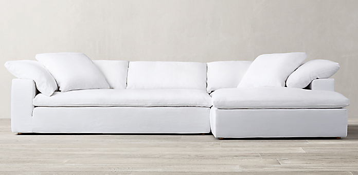 Seating collections rh for Restoration hardware cloud sectional sofa