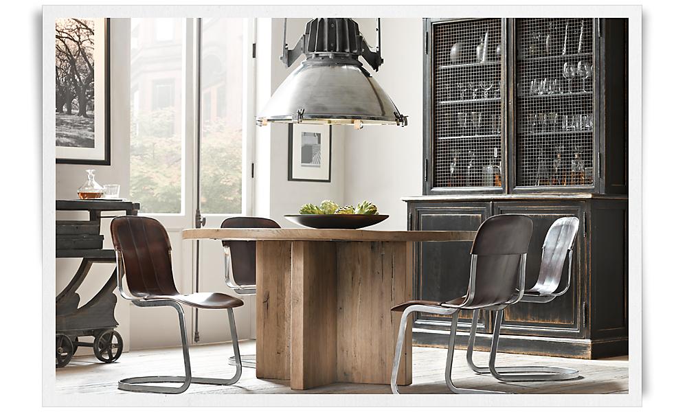 reclaimed russian oak plank 60 round dining table russian oak
