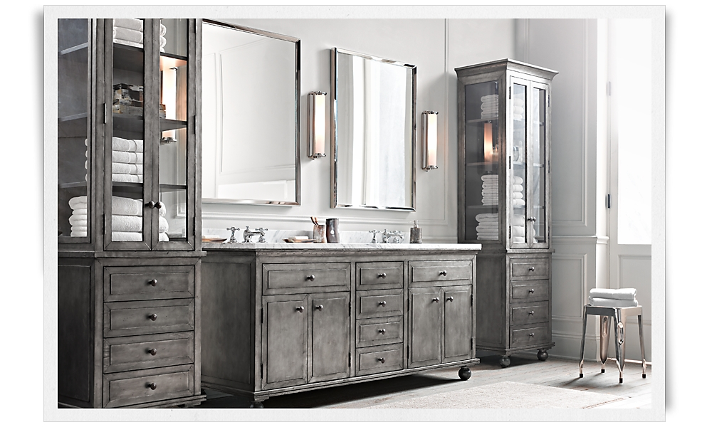 28 new restoration hardware bathroom cabinets for Restoration hardware bathroom cabinets