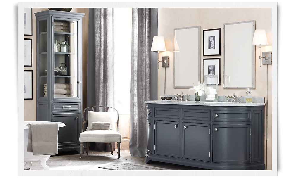 od on double vanity charcoal with carrara