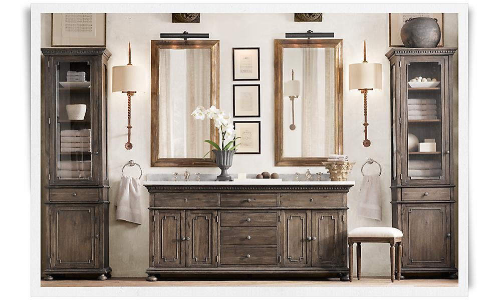 st james double vanity sink antiqued coffee italian cararra marble