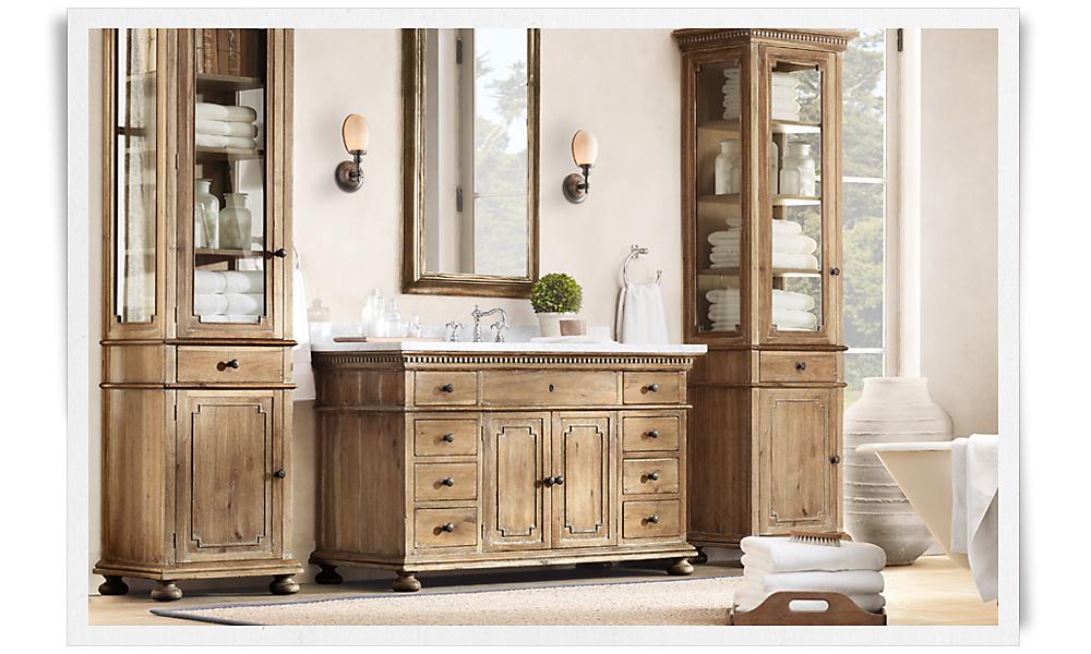 Wonderful 35 Bathroom Storage Restoration Hardware Picture
