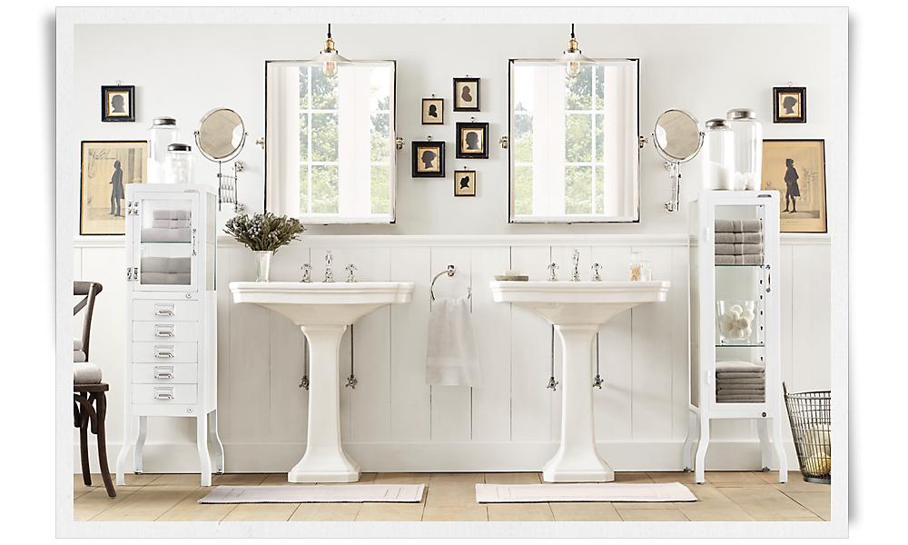 Model 31 Bathroom Storage Restoration Hardware Styles