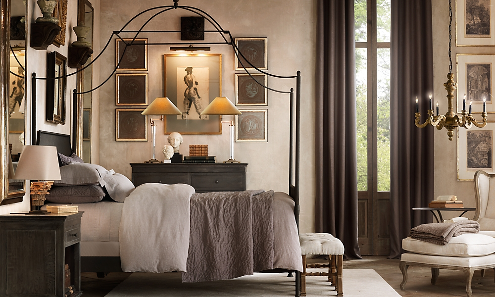 Natural decor campaign beds - Restoration hardware bedroom furniture ...
