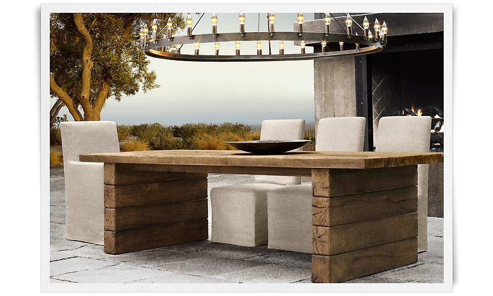 Rooms restoration hardware for Restoration hardware outdoor dining