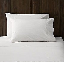 Italian Vintage-Washed 464 Percale Pillowcases (Set of 2)