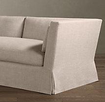 9' Belgian Shelter Arm Slipcovered Sofa
