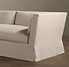 8' Belgian Shelter Arm Slipcovered Sleeper Sofa