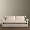 6' Belgian Wingback Upholstered Sofa