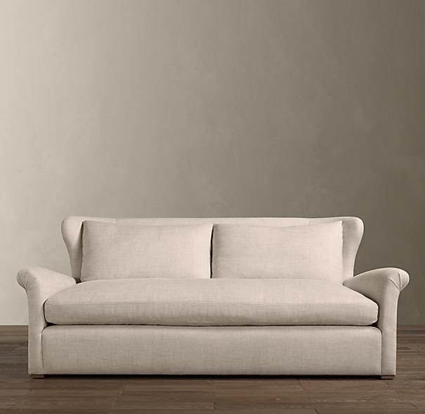6 39 Belgian Wingback Upholstered Sofa