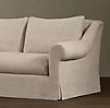 8' Belgian Roll Arm Slipcovered Sleeper Sofa