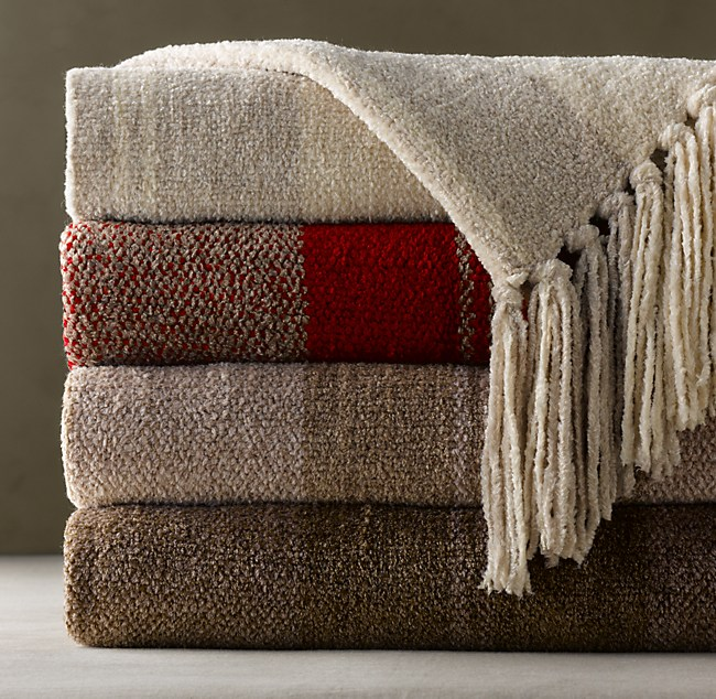 Restoration Hardware - Chenille Heathered Stripe Throw