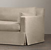 7' Belgian Track Arm Slipcovered Sofa
