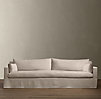 7' Belgian Track Arm Slipcovered Sleeper Sofa