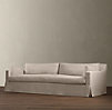 8' Belgian Track Arm Slipcovered Sleeper Sofa