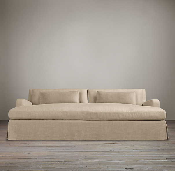 Belgian Slope Arm Slipcovered Daybed Sofa