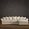 Camelback Upholstered Right-Arm Sofa Chaise Sectional