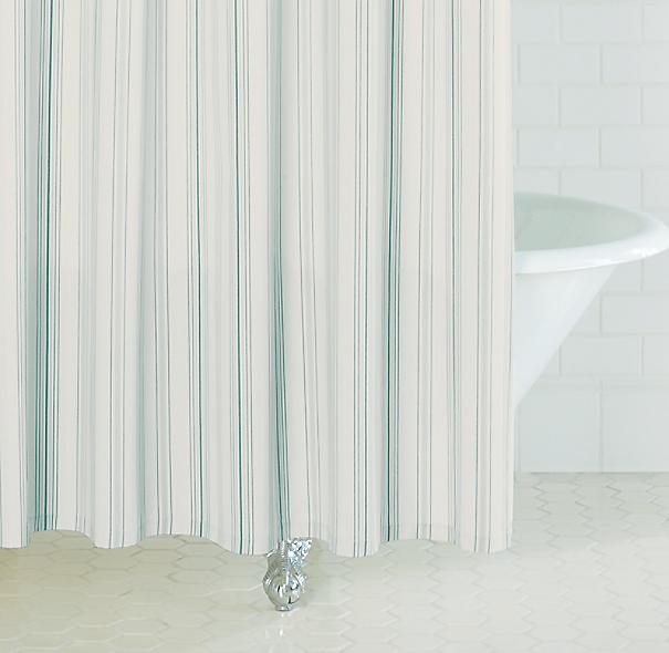 Dobby Stripe Shower Curtain