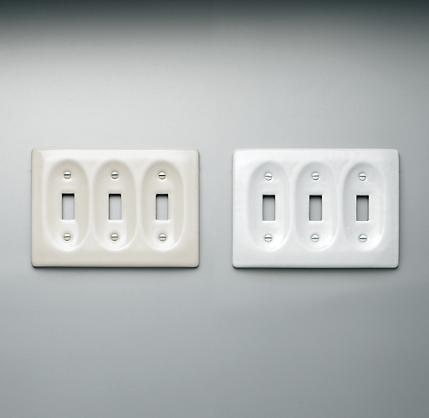 Ceramic Triple Switch Plate