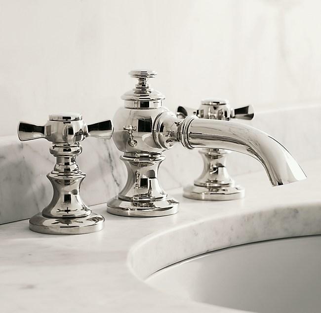 restoration hardware lugarno 8 widespread faucet orb ebay