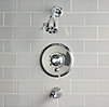 Vintage Balance-Pressure Tub and Shower Valve & Trim Set (Backplate; Spout)