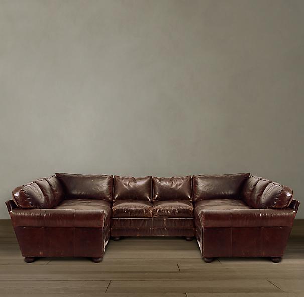 134 lancaster leather u sofa sectional