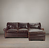 Lancaster Leather Sofa Chaise Sectionals