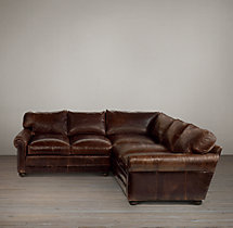 Lancaster Leather Corner Sectional