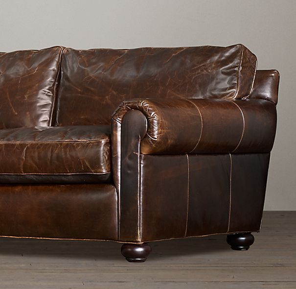 "96"" Lancaster Leather Sofa Sleeper"