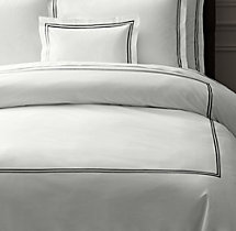 Italian Hotel Satin Stitch Bedding White Collection