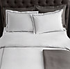 Italian Hotel Satin Stitch White Duvet Cover
