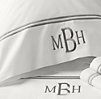 Italian Hotel Satin Stitch White Pillowcases (Set of 2)