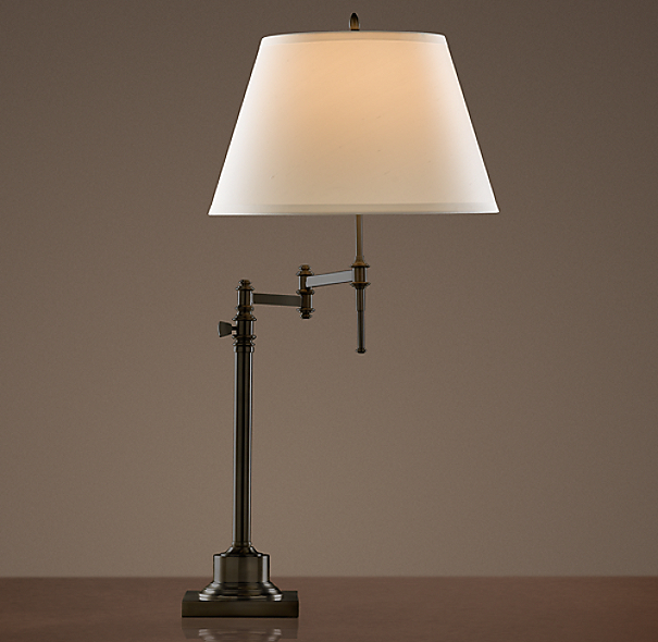 Library Swing-Arm Table Lamp Bronze