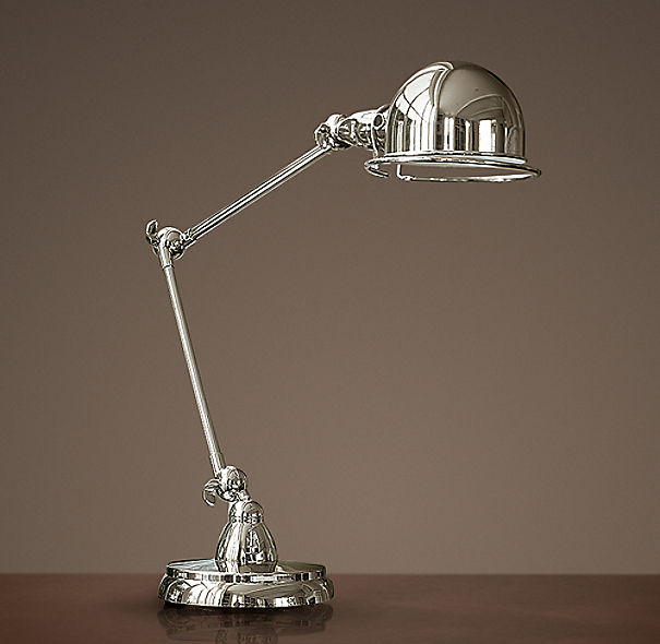 Atelier Task Table Lamp Polished Nickel
