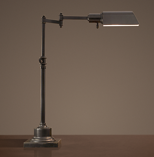 Library Task Table Lamp Bronze