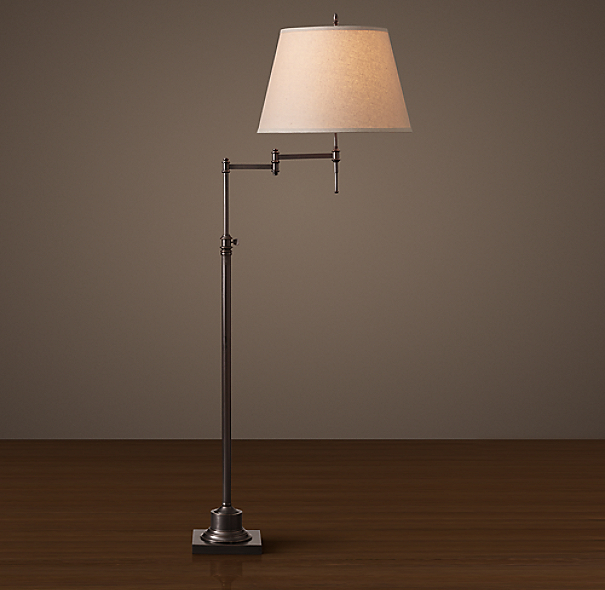 Library Swing Arm Floor Lamp