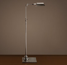 Library Task Floor Lamp Antique Nickel