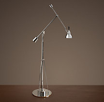 Counterpoise Task Floor Lamp Polished Nickel
