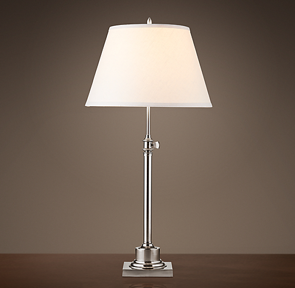 Library Table Lamp Antique Nickel