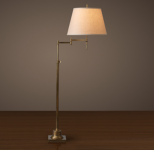 Library Swing Arm Floor Lamp