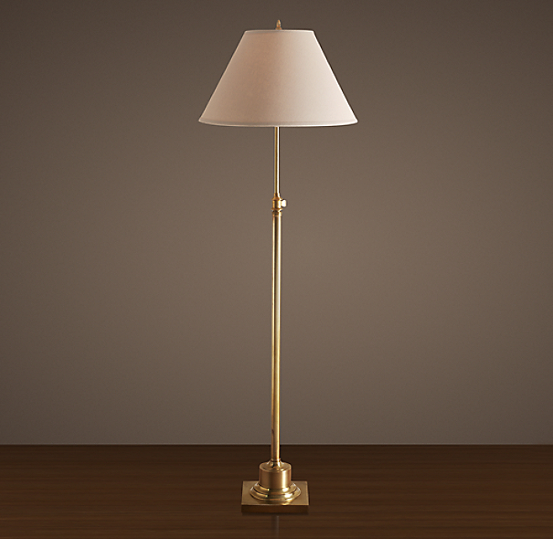 Library Floor Lamp Antique Brass
