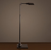 Library Task Floor Lamp Bronze
