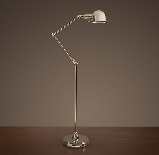 Atelier Task Floor Lamp Polished Nickel