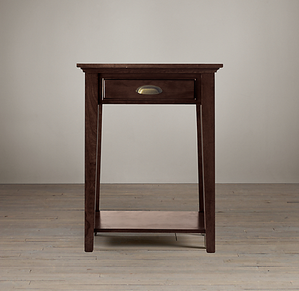 Marston 1-Drawer Nightstand Dark Cherry