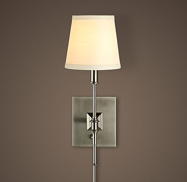 Library Sconce Antique Nickel