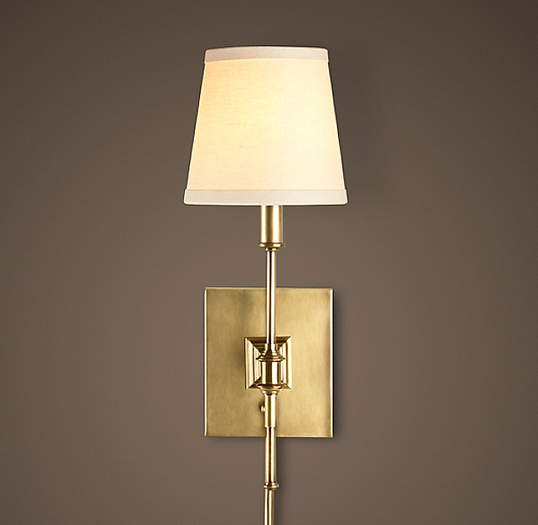 Library Sconce Antique Brass