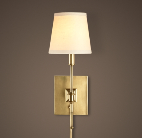 Plug In Library Wall Sconces : Library Sconce