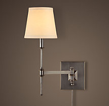 Library Swing-Arm Sconce Bronze