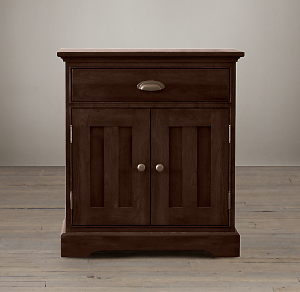 Marston Closed Nightstand Dark Cherry