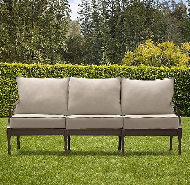 "75"" Antibes Sofa Painted Metal"